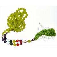 Mala indiana in quarzo verde