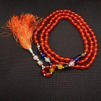 Mala indiana in agata rossa