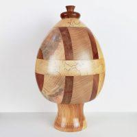 Salvadanaio a forma di uovo in legno Prasadam